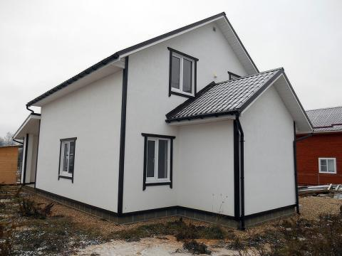 Новый загородный дом, д.Рязанцево,85 км от МКАД по Киевскому, Калужско - Фото 1