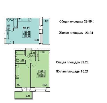 """1-х комнатная квартира Квартал-Парк """"Светлояр"""" - Фото 2"""