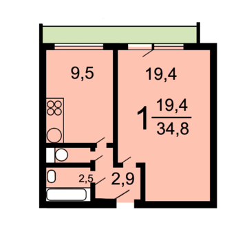 1-комн. квартира 35 кв м возле метро Беговая - Фото 2