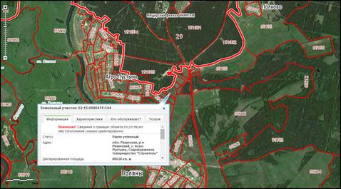 Схема участков в агропустыни рязанский район