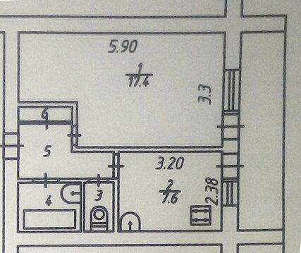 Однокомнатная 34 кв.м. в центре. Возможно под коммерцию. - Фото 3