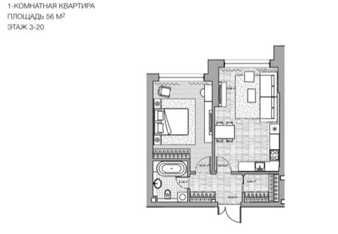 Квартира в небоскребе на старте продаж в Донском районе - Фото 1