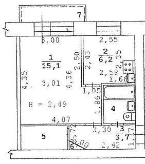 Уютная, очень чистая 1-к. квартира в самом центре, все окна во двор. - Фото 3