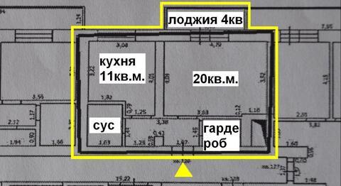 Современная 1-комн. квартира с гардеробной комнатой в кирпичном доме - Фото 3