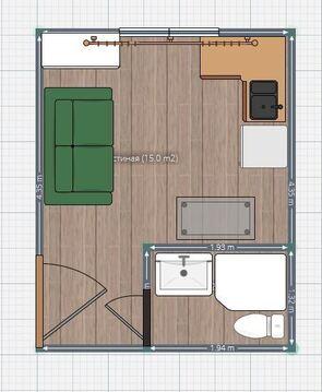 Продам комнату 15 кв.м. со своими удобствами и входной дверью. - Фото 2