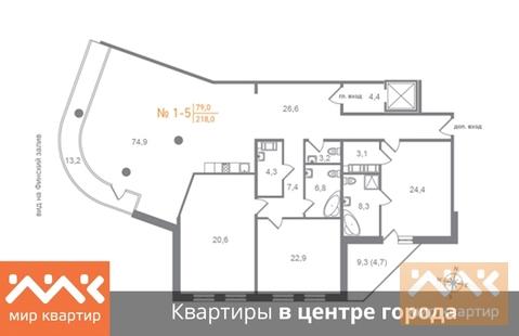 Продажа квартиры, м. Крестовский остров, Ул. Ждановская - Фото 1