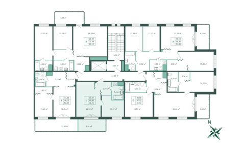 1-комнатная квартира 46,4 м2 - Фото 2