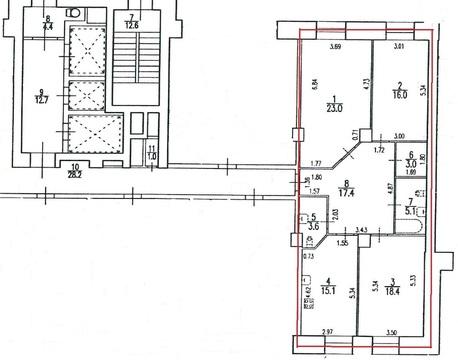 Трехкомнатная квартира в новом доме на улице Есенина - Фото 3
