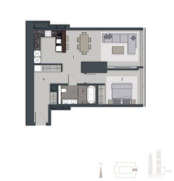 4-комн. квартира, 104 м2 - Фото 1