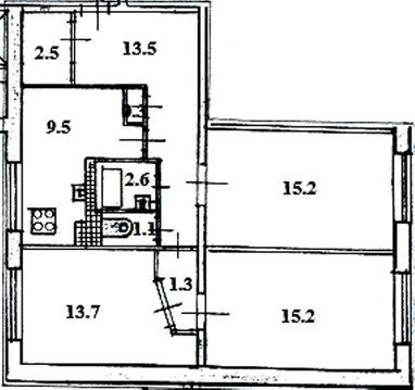 Квартира на две стороны у метро.