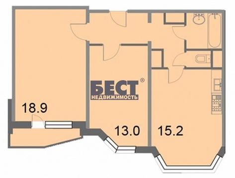 Двухкомнатная Квартира Москва, проезд 2-ой Грайвороновский, д.38, ВАО . - Фото 5