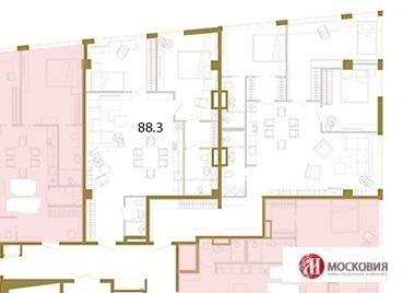Свободная планировка Центр Москвы 88 кв.м. - Фото 1