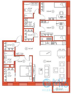 Продажа 3-комнатной квартиры, 109.18 м2 - Фото 2
