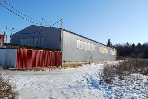 Утепленное производственное помещение 1000 кв.м. 2 кран-балки, 400ква - Фото 1