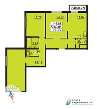 Объявление №44419339: Квартира 3 комн. Санкт-Петербург, ул. Парашютная, 61 к4,