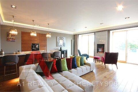 Квартира с авторским дизайном, террасой и панорамными видами на город - Фото 1