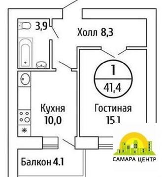 Продам 1 ком. кв 41.5 м 2, ЖК Волгарь - Фото 1