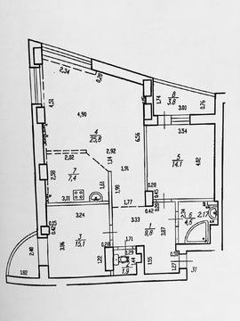 Трехкомнатная квартира в ЖК Парковый, ул. Рихарда Зорге дом 66 - Фото 3