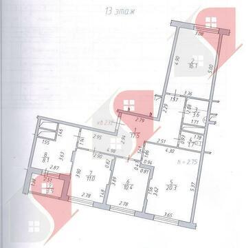 4-комн. кв. 90 кв.м, 13 эт. Подольск, ул. Ген. Варенникова, д. 4 - Фото 4