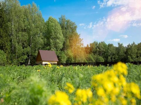 Участок 11 соток, Можайский р-н, Тропарево с, Минское шоссе, 97 км - Фото 1