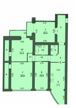 Четырехкомнатная в кирпичом доме район водстрой - Фото 1