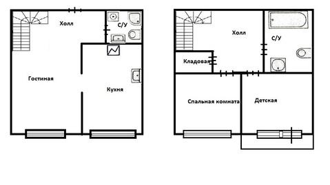 Двухуровневая квартира с евроремонтом метро Котельники - Фото 2