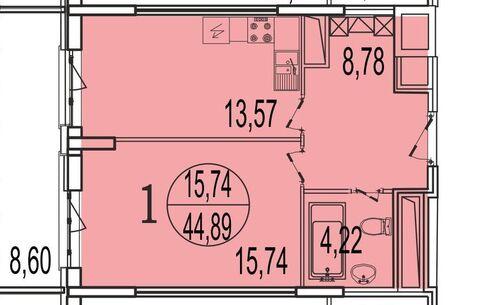 Просторная однушка с огромным балконом в новом доме в Реутове за 4,6! - Фото 1
