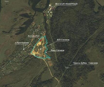 Зем.участок на 1-ой линии д.Притыкино, 15,44сот - Фото 2