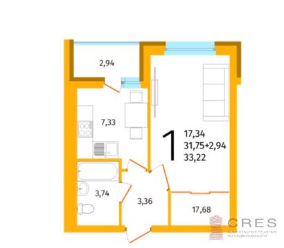 Продается 1-комнатная квартира по ул