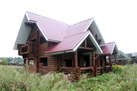 Дом из бревна в жилом поселке на границе Новой Москвы. Под отделку - Фото 1