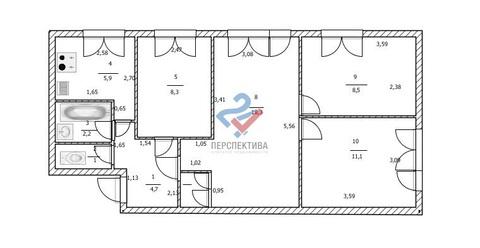 Квартира по адресу.Достоевского 102/3 - Фото 1
