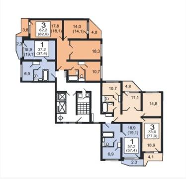 Продаётся 3х комнатная квартира в г. Москва Ул. Лётчика Грицевца - Фото 1