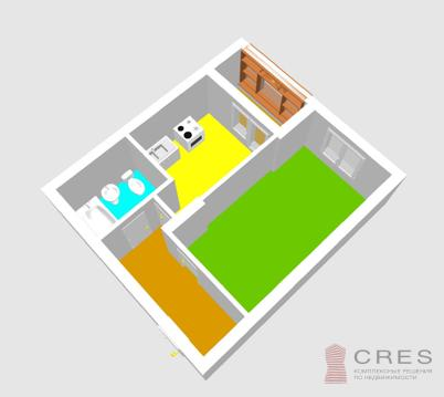 1- комнатная квартира в микрорайоне Глумилино - Фото 3