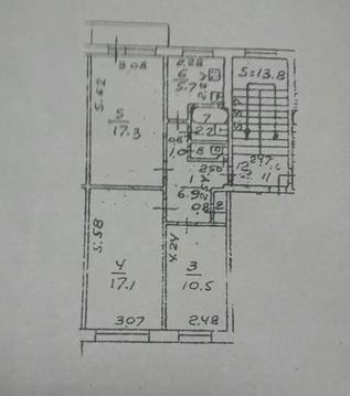 3 к. кв. Подольск, ул. Плещеевская , д.64 (ном. объекта: 353)