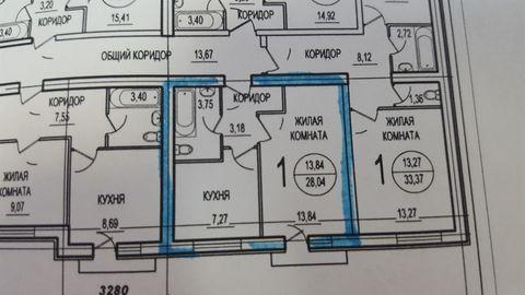1-но ком. квартира 28 кв. м 3/3 к Новое Ступино, ул. Центральная 11 - Фото 3