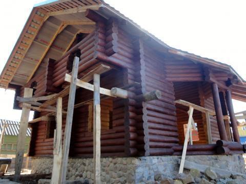 Дом недостроенный, с оцилиндрованного бревна .Витебск.Беларусь. - Фото 4