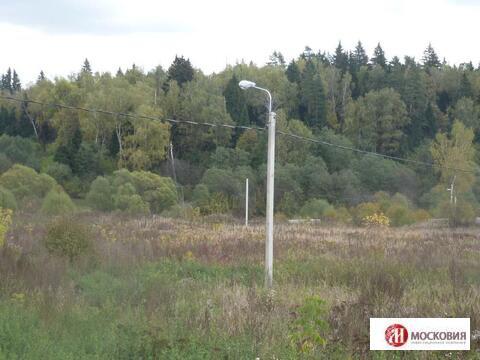 Прилесной участок 15 соток, коммуникации по границе, 30 км от МКАД. - Фото 3
