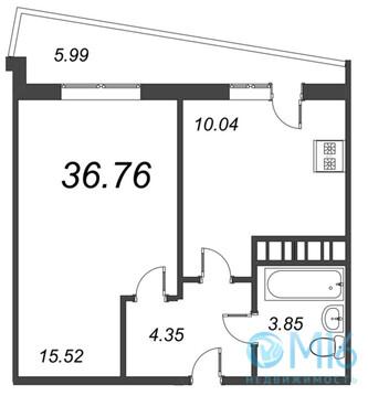 Продажа 1-комнатной квартиры, 36.76 м2 - Фото 2
