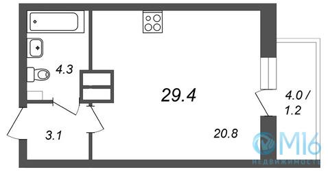 Продажа студии, 29.4 м2, Обручевых ул, д. 5а - Фото 2