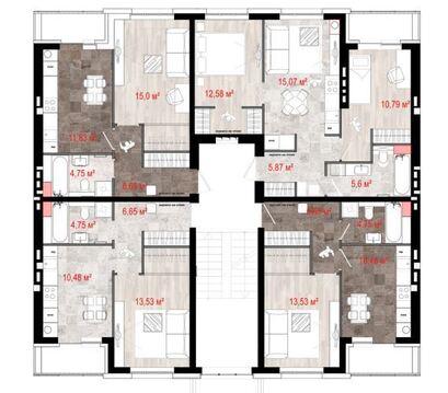 Продажа 1-комнатной квартиры, 36.79 м2, г Киров, Севастопольская, д. . - Фото 2