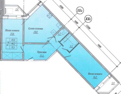 Продажа квартиры, Мурино, Всеволожский район, Шоссе в Лаврики ул. - Фото 2