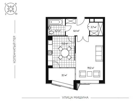 1-комн. квартира 49,3 кв.м. в новом 7-ми этажном доме САО г. Москвы - Фото 5