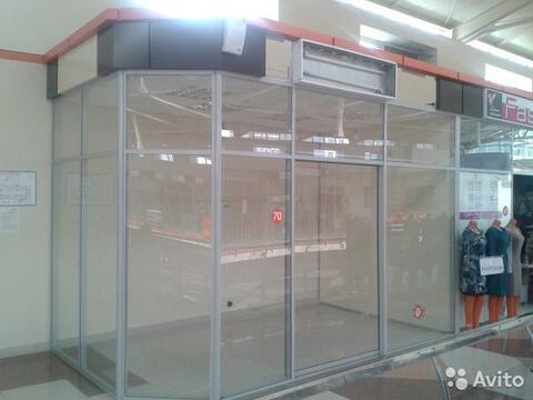 Торговый модуль с витражным остеклением