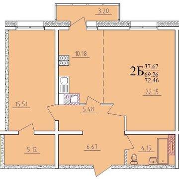 Продаётся готовая 2-комнатная квартира в ЖК Море Солнца - Фото 2
