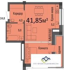 Продам однокомнатную квартиру Российская , 54 кв.м. Цена 1930т.р - Фото 1