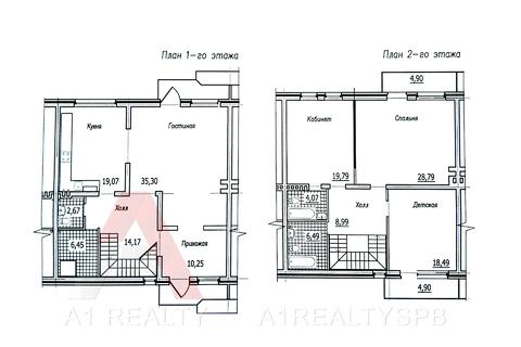 Пп кирпичный таунхаус 177 кв.м. с камином, балконами и террасой 3 сот - Фото 2