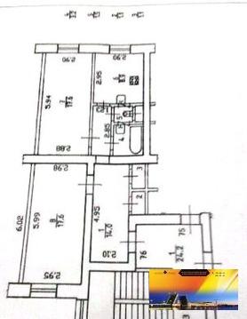 Редкое предложение - квартира в сталинке 65 м.кв. у метро Ч.Речка. - Фото 2