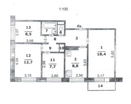 Продаю комнату, Губкина ул 31, 8/9, площадь: 47.30 кв.м. - Фото 1