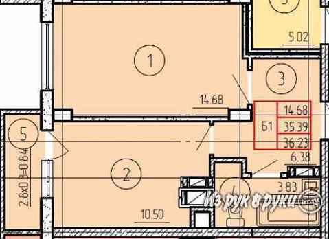 1-комнатная квартира Летняя ул.