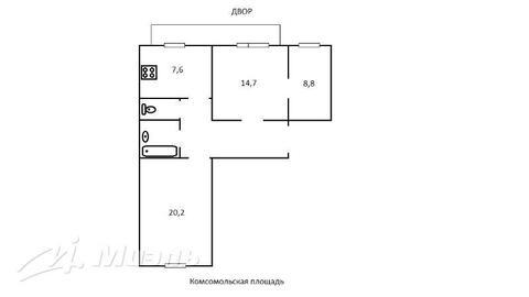 Продажа квартиры, м. Комсомольская, Ул. Краснопрудная - Фото 2